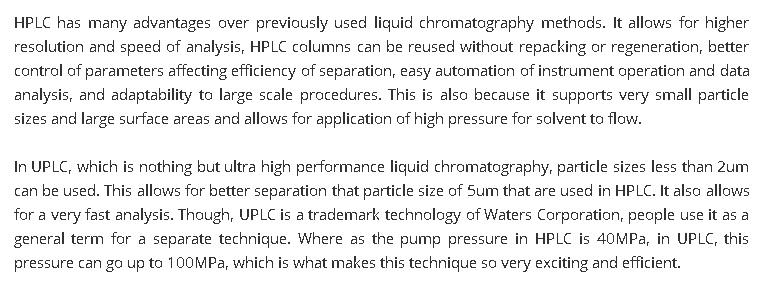 HPLC-UPLC